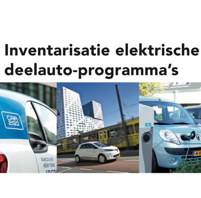 Inventarisatie elektrische deelauto-programma's